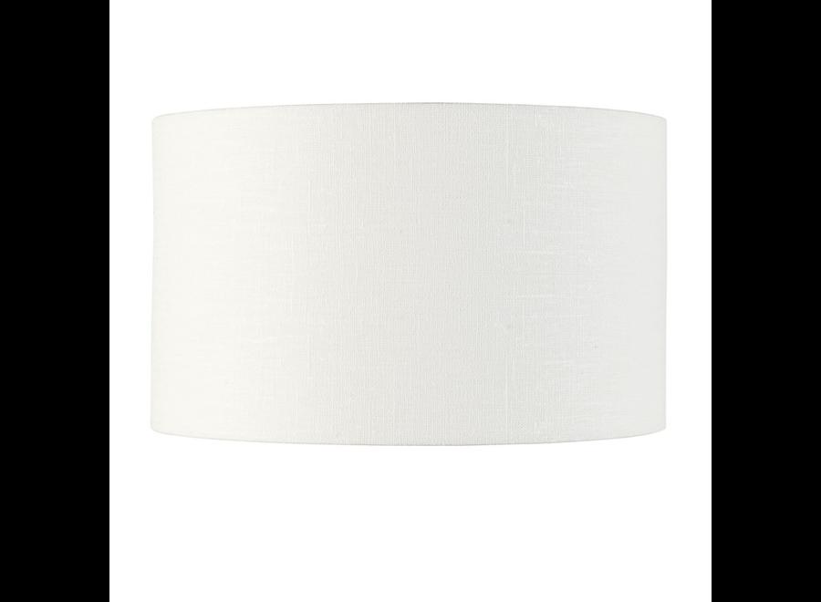 Enkel de lampenkap eco linnen Medium/ wit