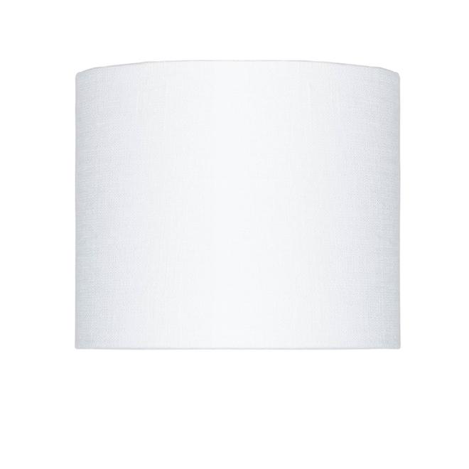 Enkel de lampenkap eco linnen Small/ wit