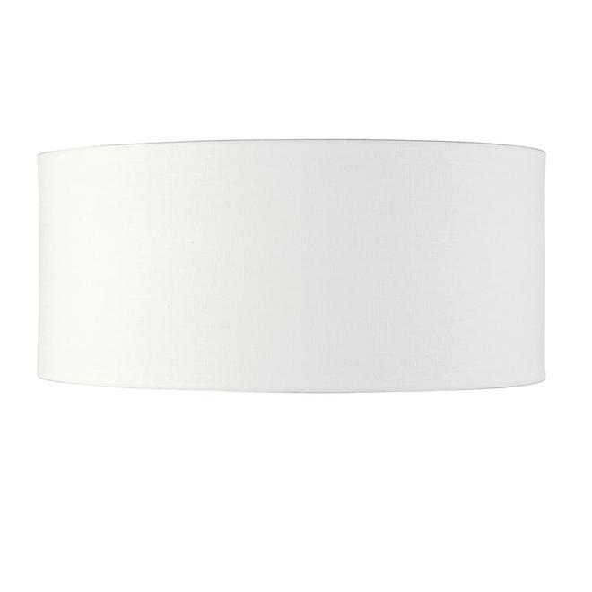 Enkel de lampenkap eco linnen XL/ wit
