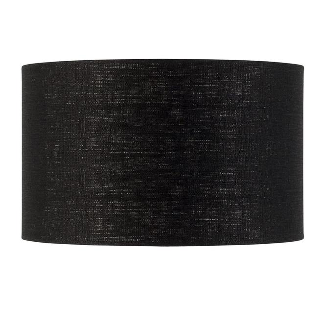 Enkel de lampenkap eco linnen Medium/ zwart