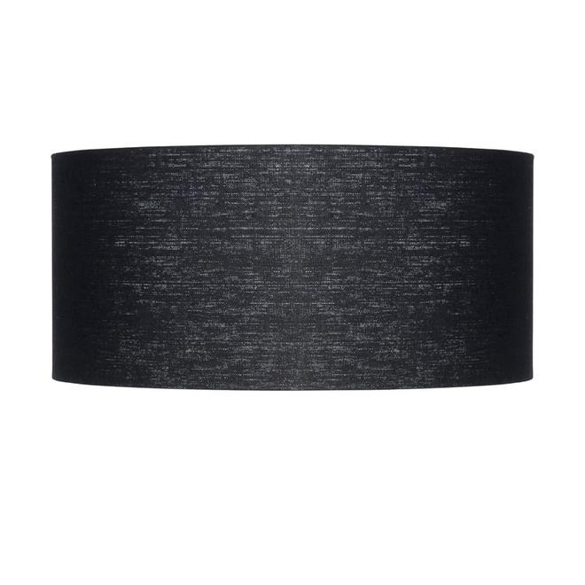 Enkel de lampenkap eco linnen Large/ zwart