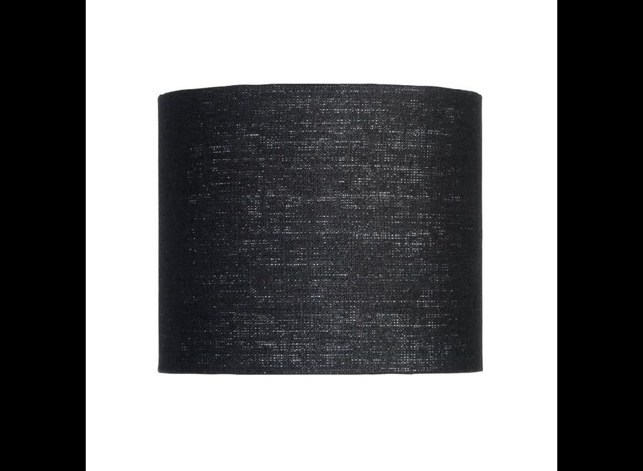Enkel de lampenkap eco linnen Small/ zwart