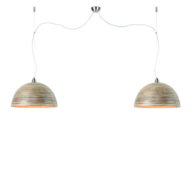 Hanglamp Halong naturel - DUBBEL