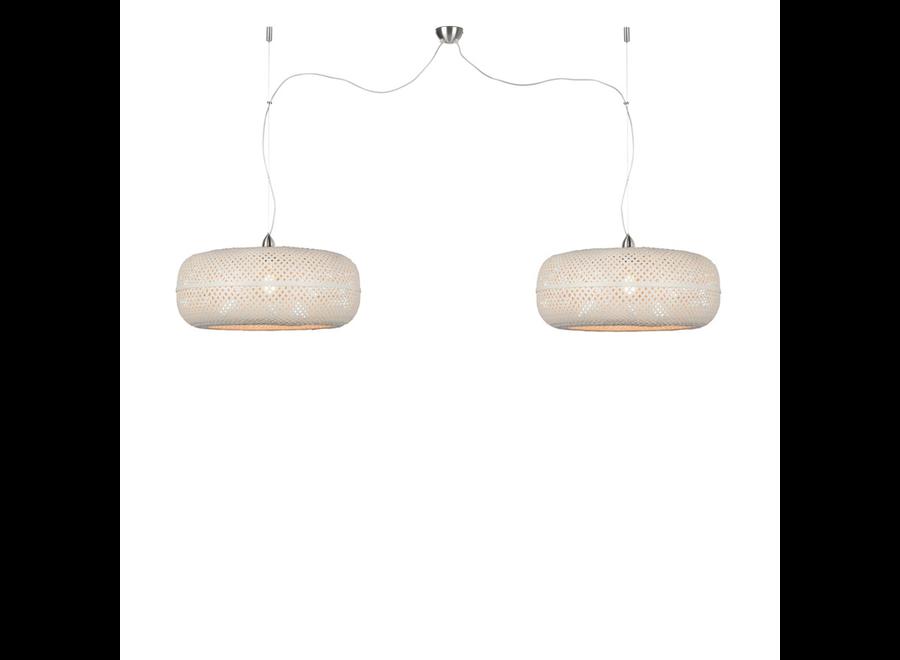 Hanglamp Palawan wit - dubbel
