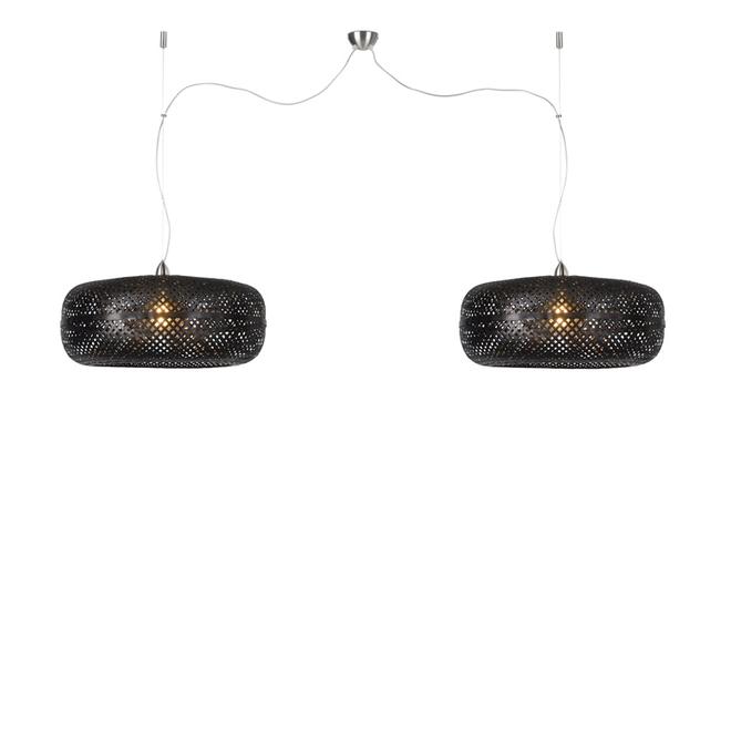 Hanglamp Palawan zwart - dubbel
