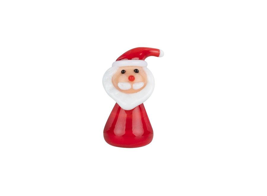 Gelukzakje  Xmas to go- Kerstman van glas