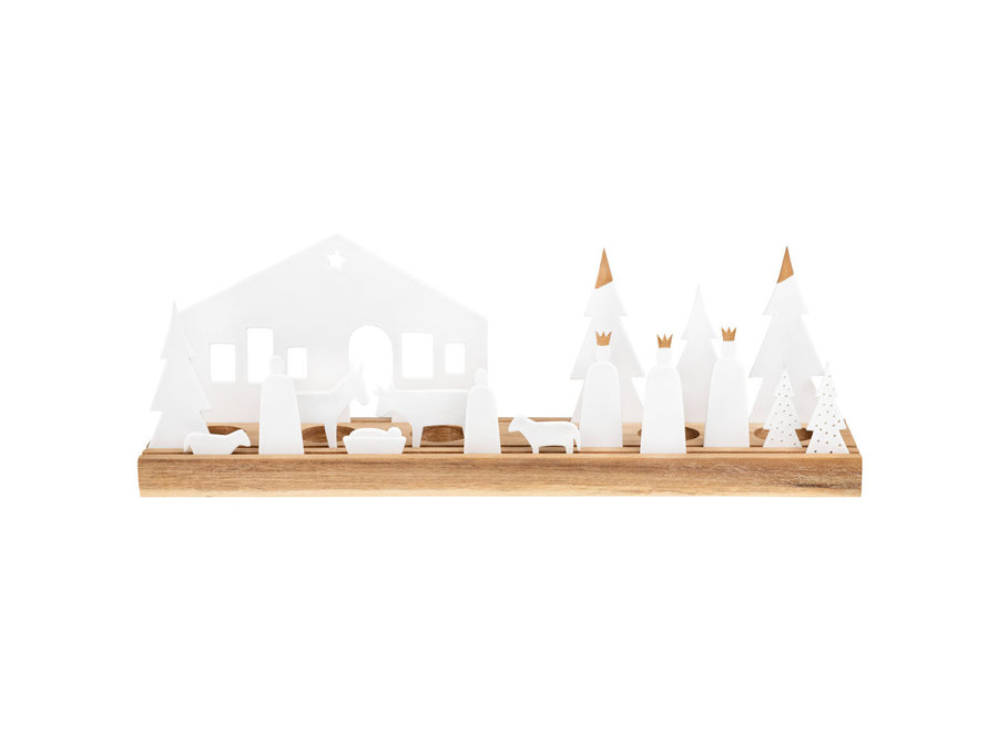 Waxinelichthouder Kerststal large
