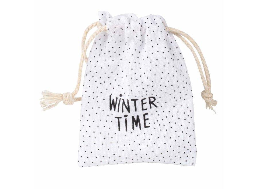 Gelukszakje Wintertime - sneeuwpop