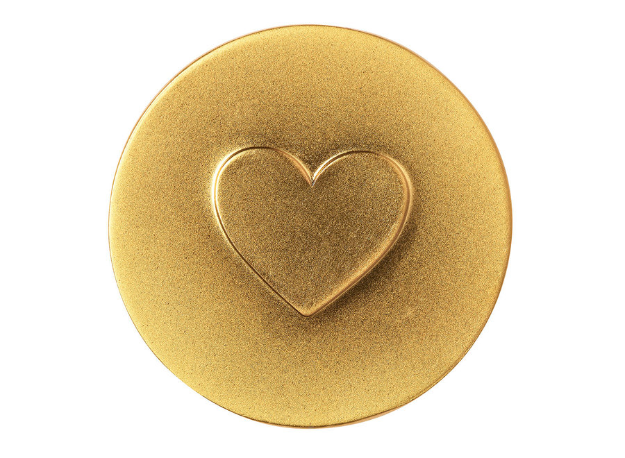 New years Eve Piece of gold hearts