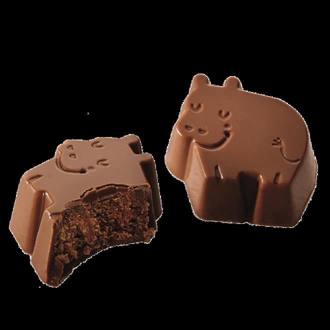 BARU Hippo Melk chocolade Hazelnoot truffel 60g