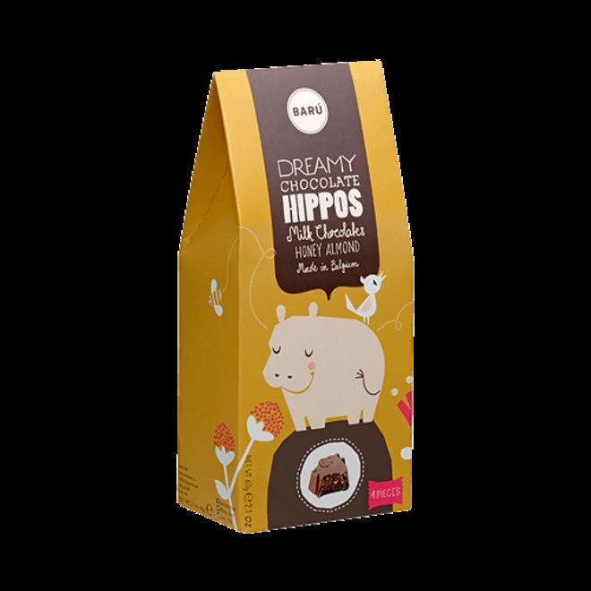BARU Hippo Melk chocolade Honing Amandel 60g