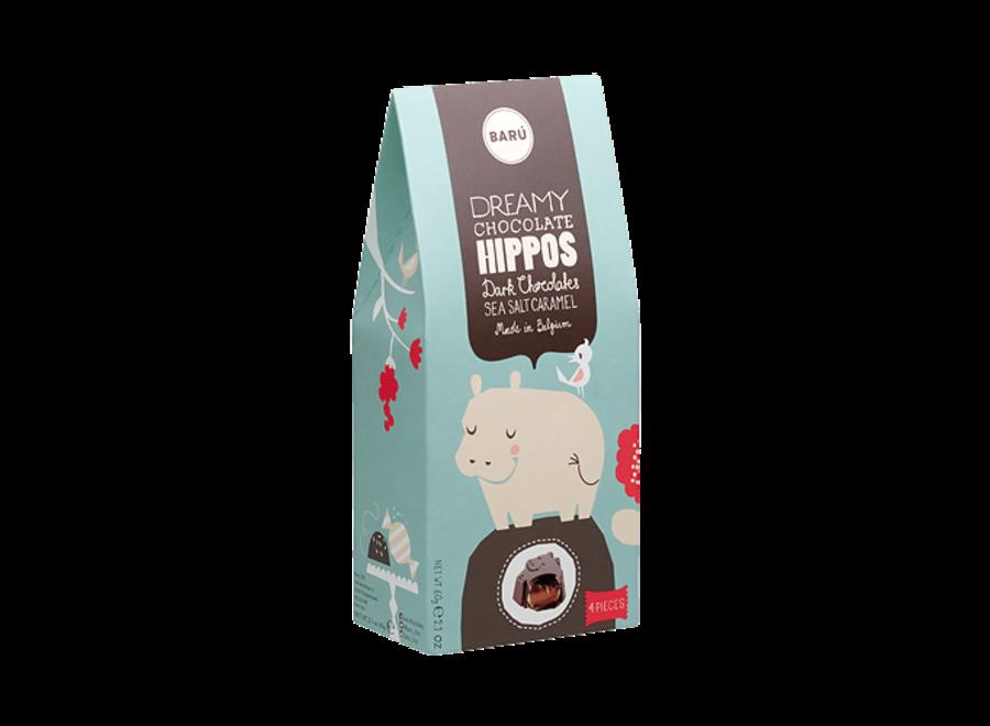 BARU Hippo Dark chocolate Zeezout & Karamel 60 gr