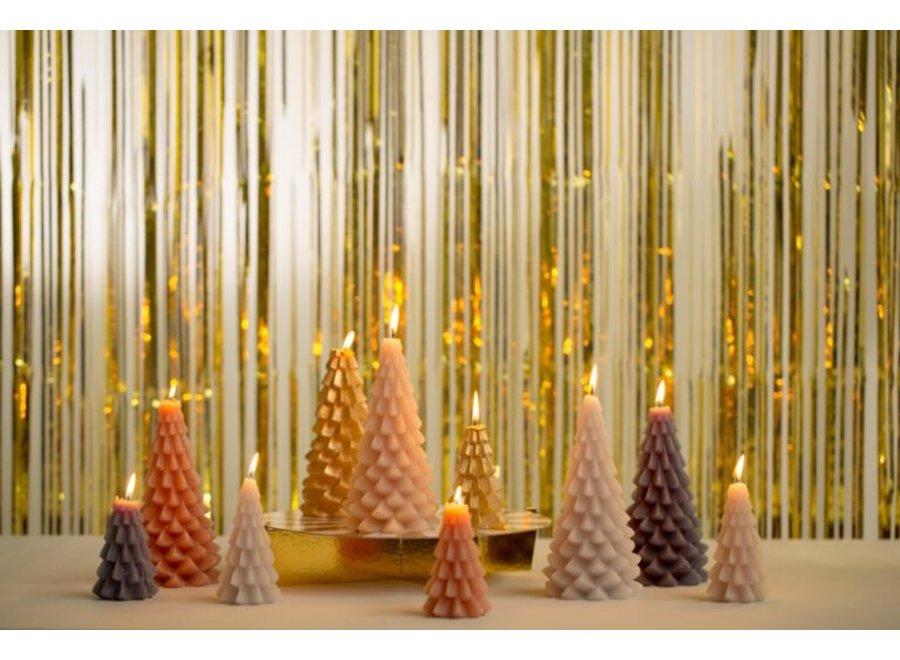 Kerstboom kaars  klein - ANTRACIETGRIJS