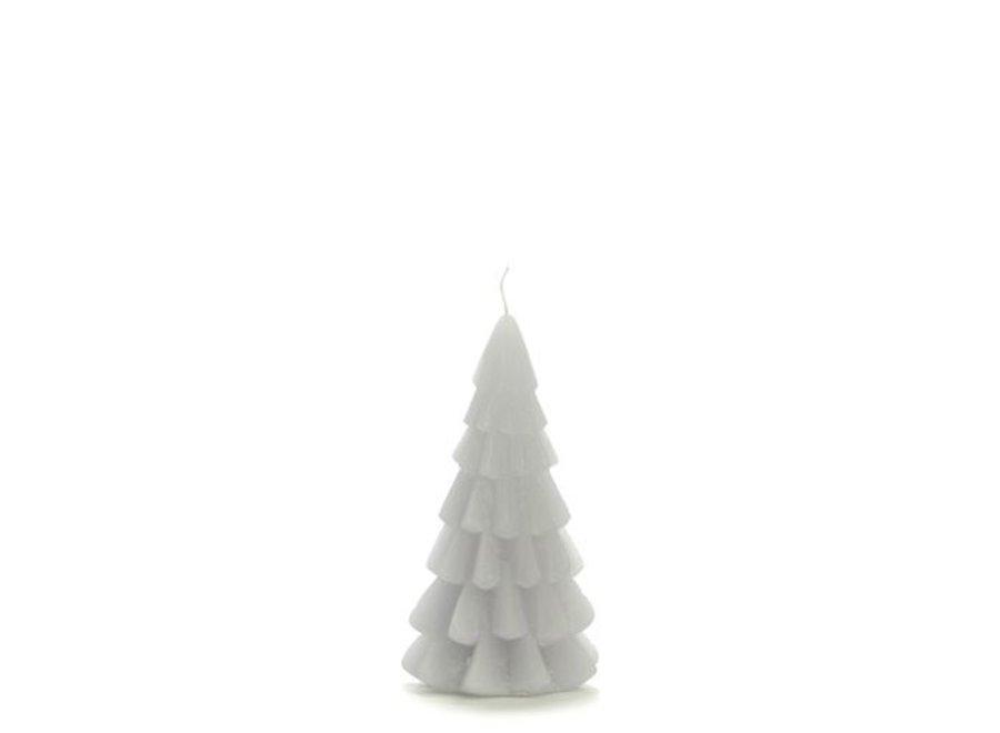 Kerstboom kaars klein - KOEL GRIJS
