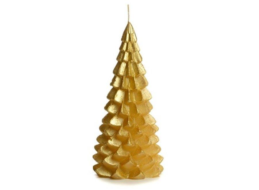 Kerstboom kaars groot - GOUD