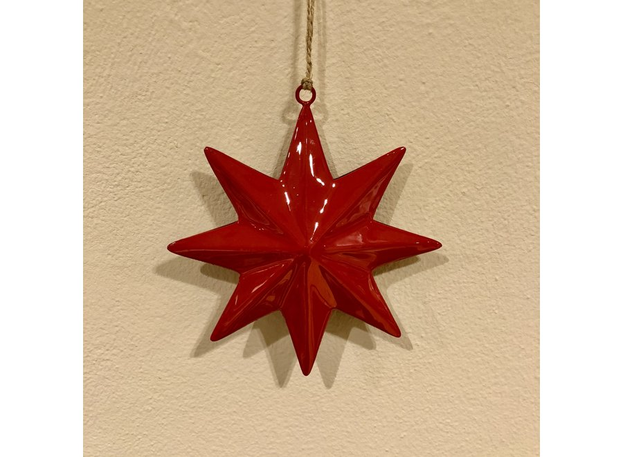 Ornament ster - ROOD