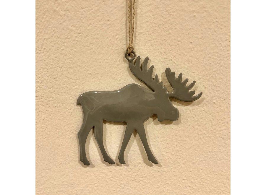 Ornament rendier S - GRIJS
