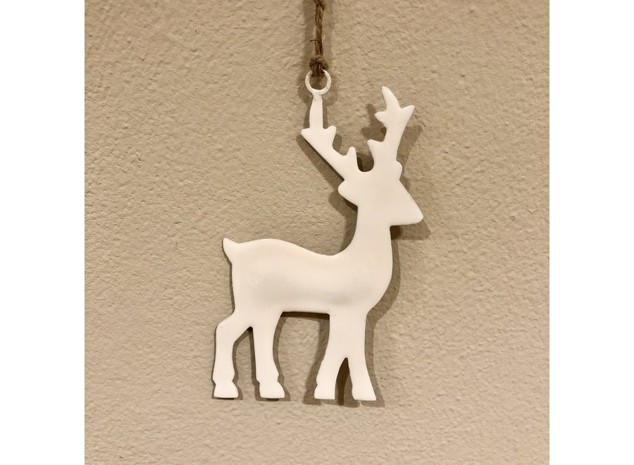 Ornament hert - WIT
