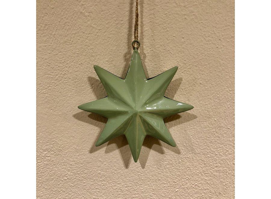 Ornament ster - GROEN