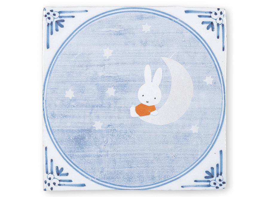 Miffy on the moon Tiles Medium