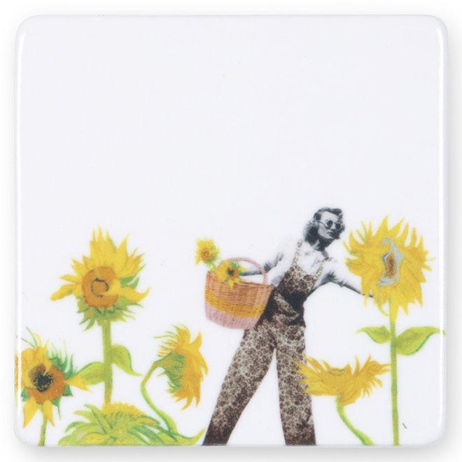 SunFlower Power - mini magneet