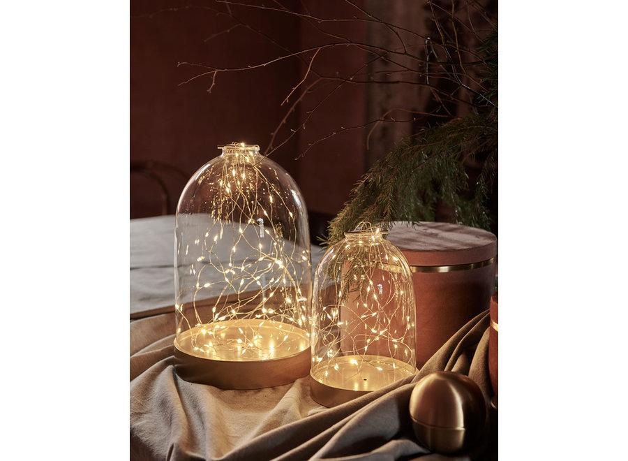 Glazen stolp LED verlichting Large