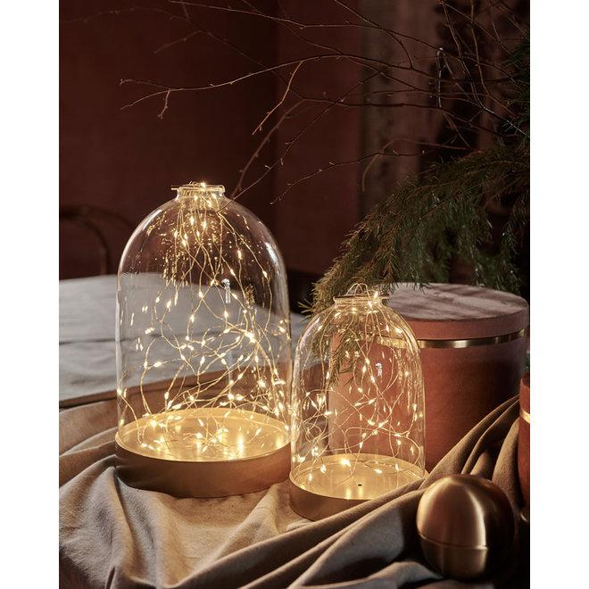Glazen stolp LED verlichting Medium