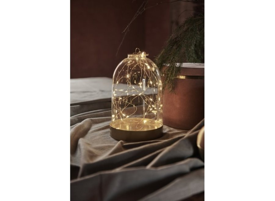 PRE ORDER Glazen stolp LED verlichting Medium