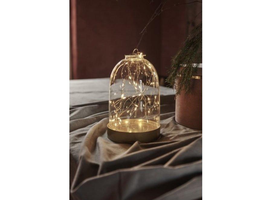 Glazen stolp LED verlichting Small