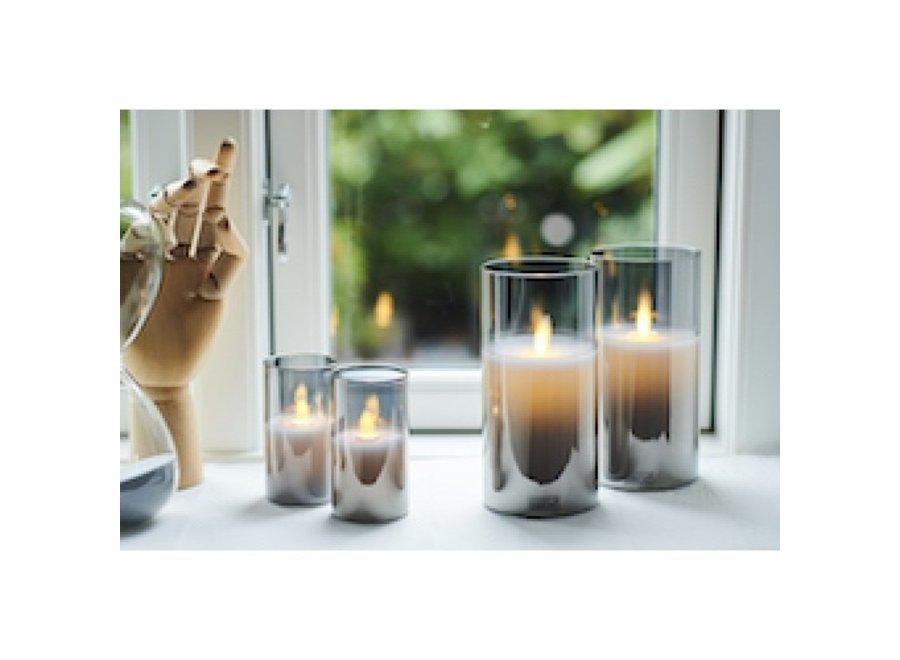 LED kaars in glas IVY 2 stuks - GRIJS