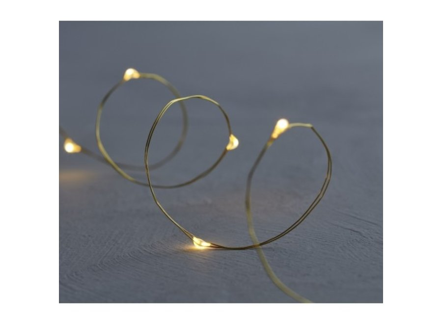 LED lichtjesslinger Knirke Gold 40lampjes