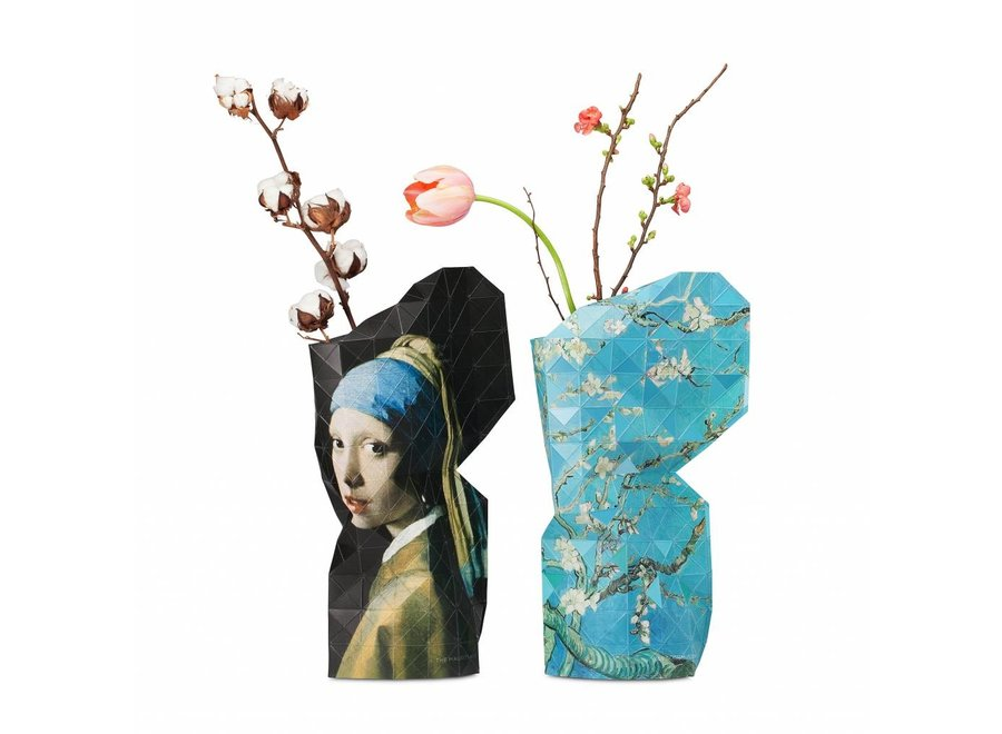Paper Vase Cover Pearl Earring