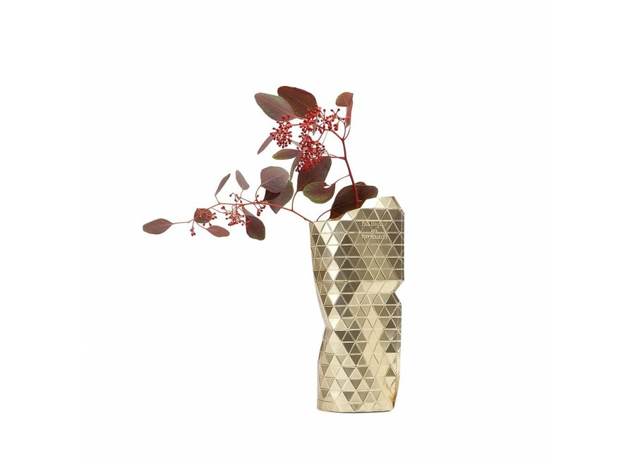 Paper Vase Cover SMALL Gold