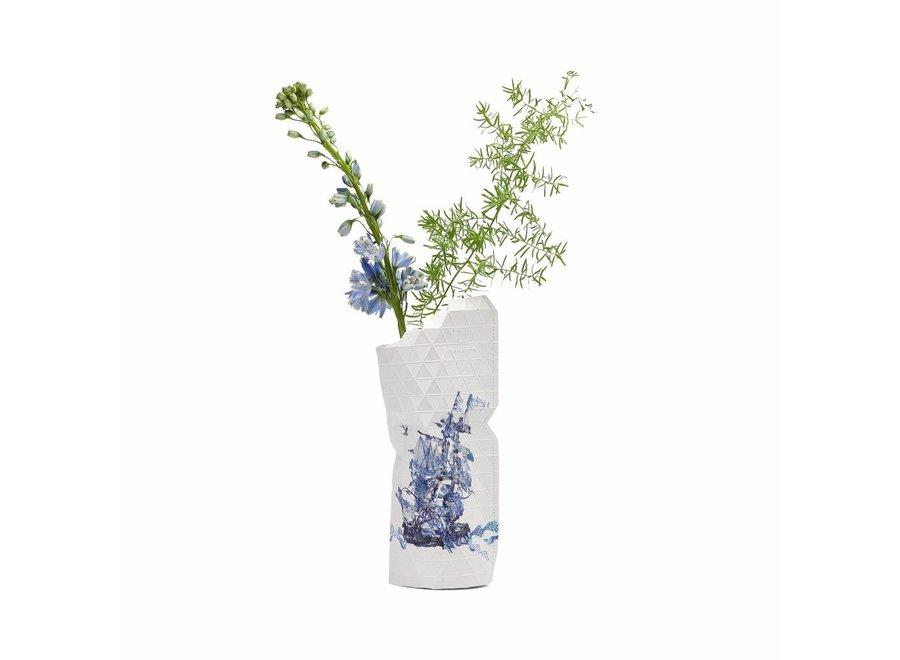 Paper Vase Cover SMALL Delft Blue