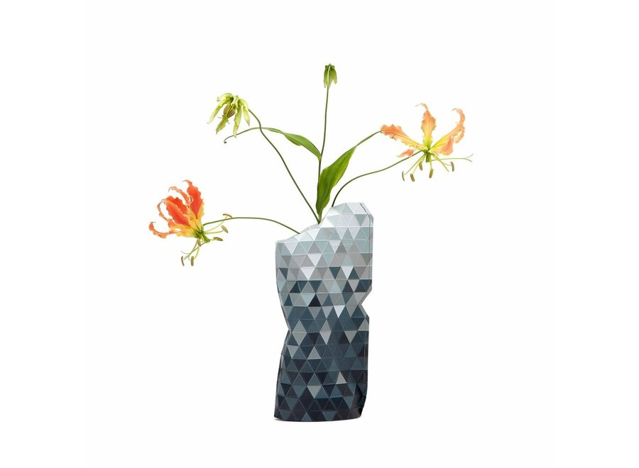 Paper Vase Cover SMALL Grey Gradient