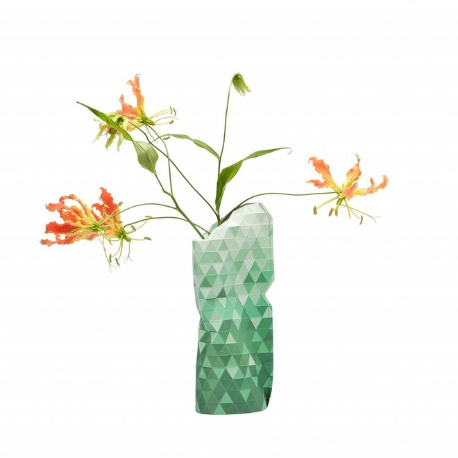 Paper Vase Cover SMALL Green Gradient