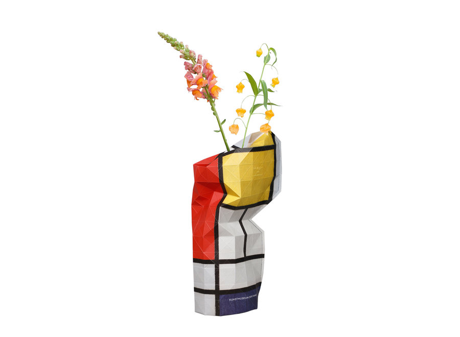 Paper Vase Cover Composition Red Mondriaan