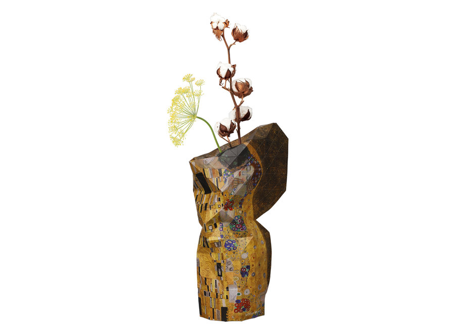 Paper Vase Cover The Kiss Klimt