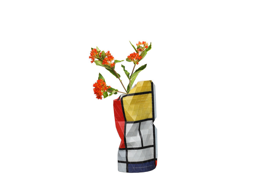 Paper Vase Cover SMALL Red Composition Mondriaan