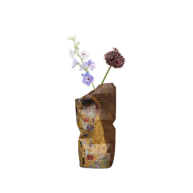 Paper Vase Cover SMALL The Kiss Klimt