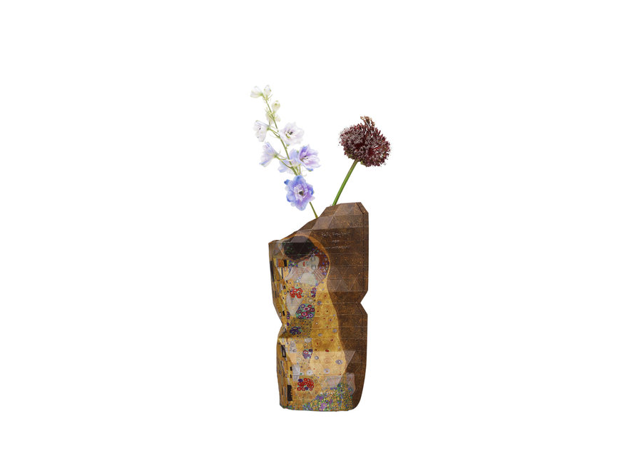 Paper Vase Cover SMALL The Kiss Klimt
