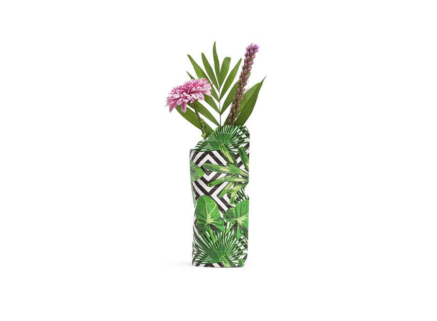 Paper Vase Cover SMALL Geo Jungle