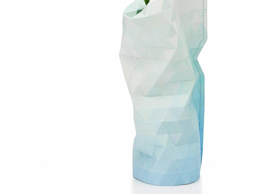 Paper Vase Cover SMALL Blue Tones