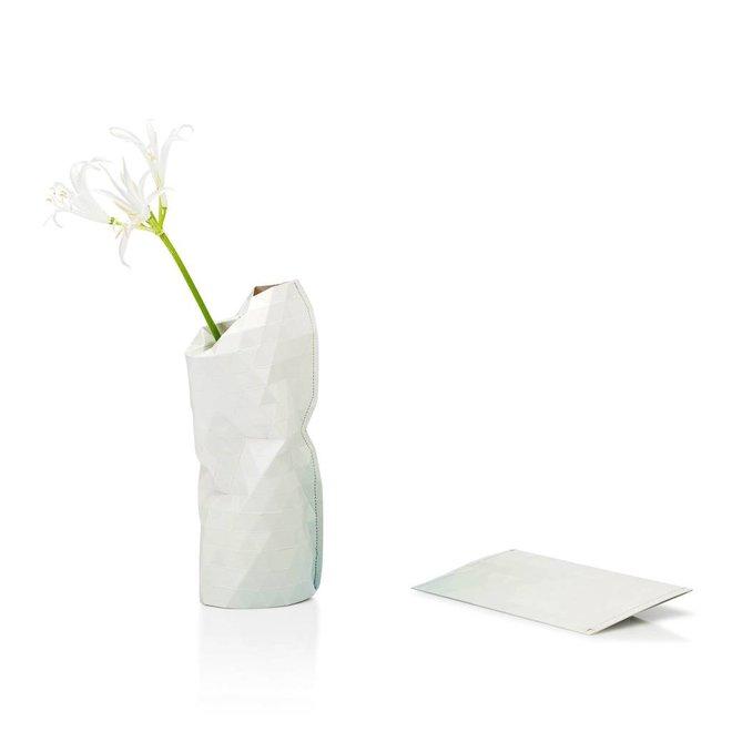 Paper Vase Cover SMALL Light Grey Tones