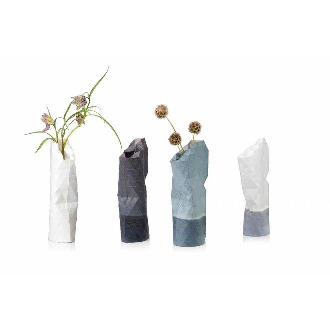 Paper Vase Cover SMALL White Plain