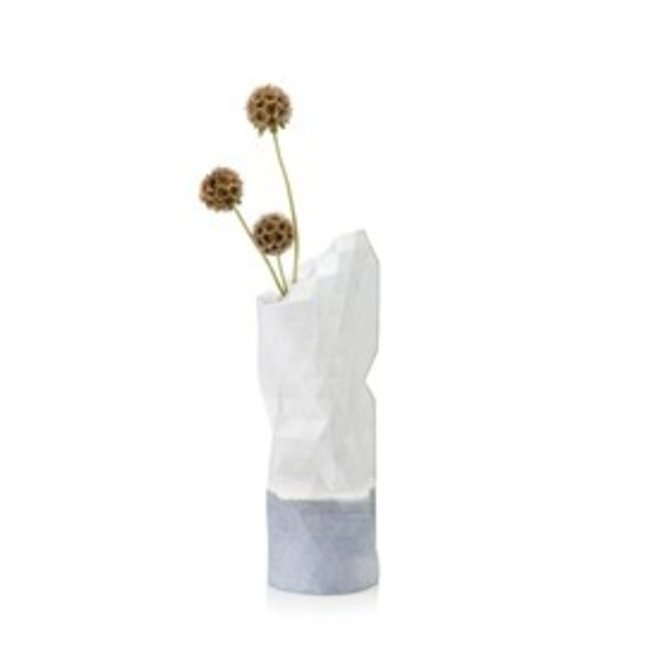 Paper Vase Cover SMALL White Watercolor