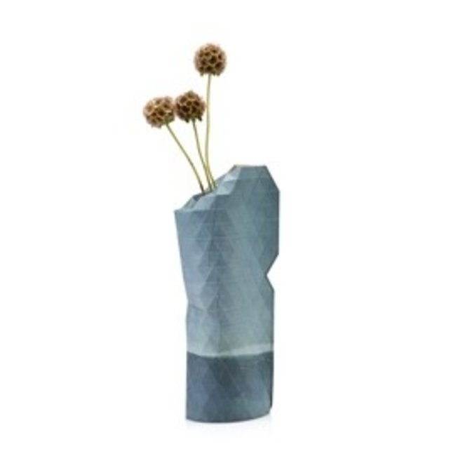 Paper Vase Cover SMALL Blue Watercolor