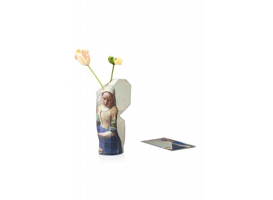 Paper Vase Cover Vermeer Milkmaid