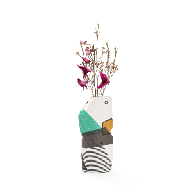 Paper Vase Cover SMALL Abstract Green