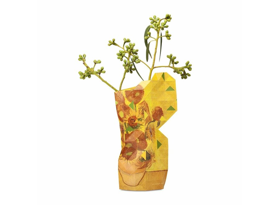 Paper Vase Cover SMALL Sunflowers - Van Gogh